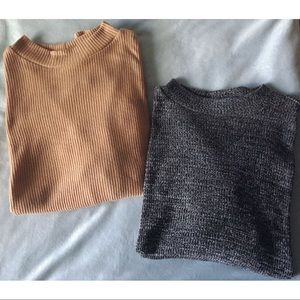 H&M⎮ribbed mock turtleneck sweaters